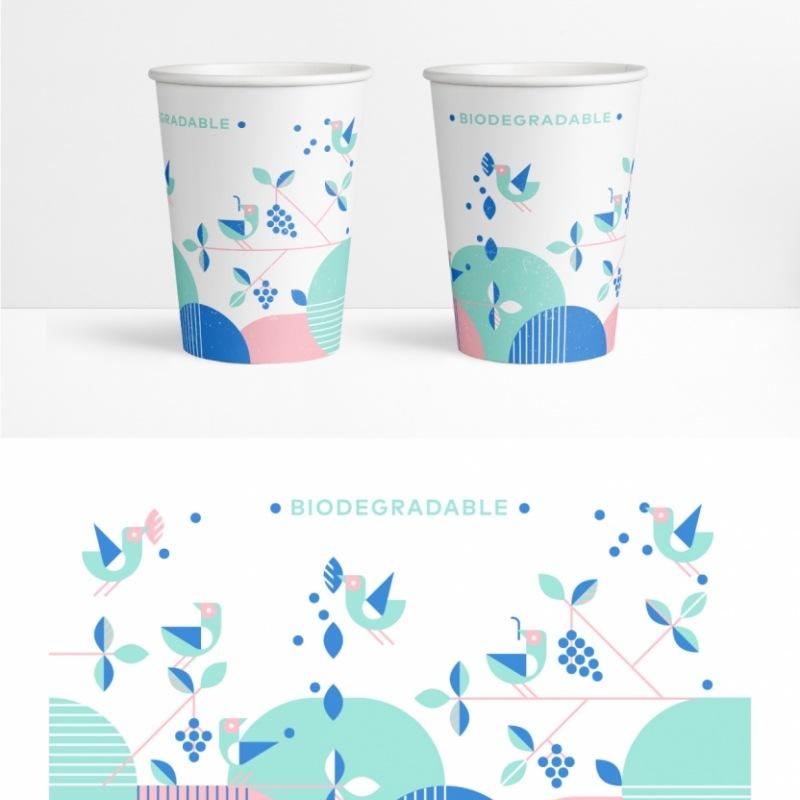 ekologiški puodeliai